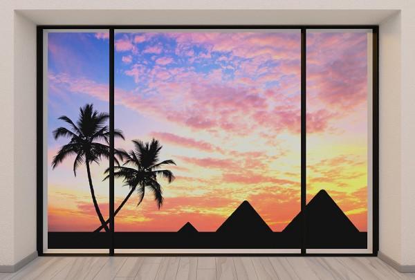Fototapete Nr. 2972 - Penthouse Ägyptische Pyramiden