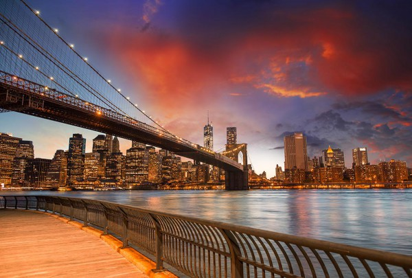 Fototapete Nr. 3103 - Brooklyn Bridge Glow