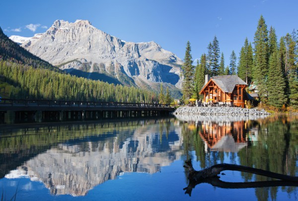 Fototapete Nr. 3542 - Emerald Lake Lodge