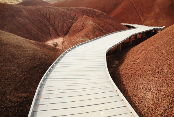 Fototapete Nr. 3870 - Boardwalk on Painted Hills
