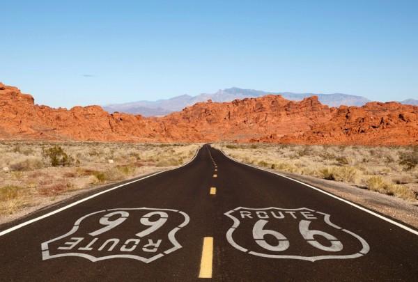 Fototapete Nr. 3184 - Route 66 - Mojave desert, Nevada