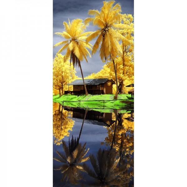 Türtapete Nr. 3139 - Palmen infrarot