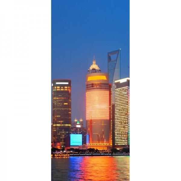 Türtapete Nr. 3564b - Shanghai Skyline