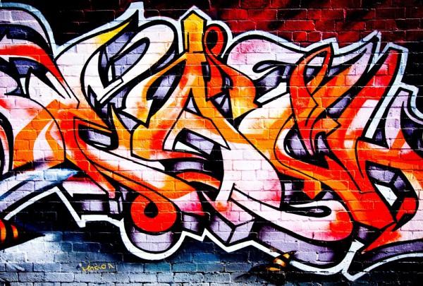 Fototapete Nr. 3483 - Graffiti Flames