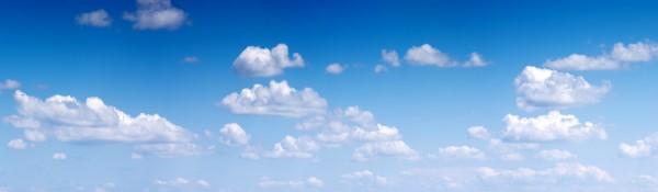 Panoramatapete Nr. 3183 - Sky & white clouds
