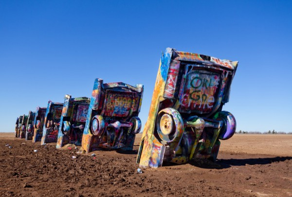 Fototapete Nr. 3185 - Route 66 - Cadillac ranch, Amarillo, Texas