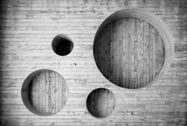 Fototapete Nr. 3497 - Beton - Struktur Circle