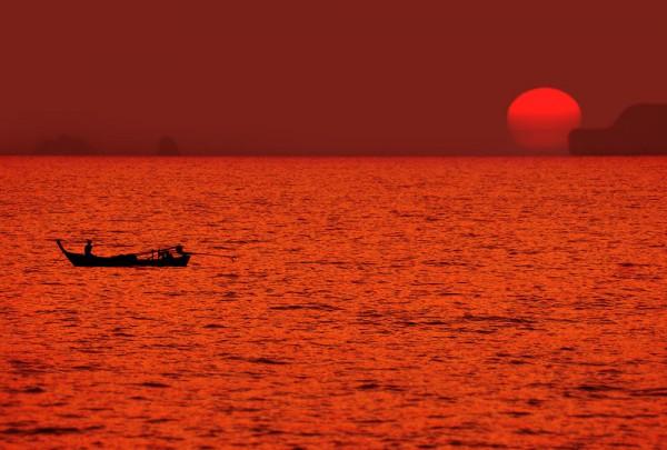 Fototapete Nr. 3430 - Sundown sea
