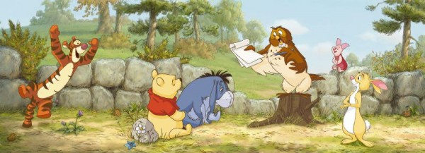Fototapete Nr. 7640 - Pooh & Freunde in der Schule