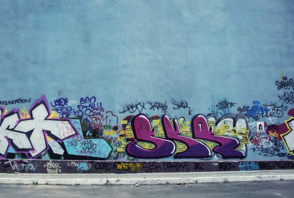 Fototapete Nr. 3488 - Graffiti Friedhof