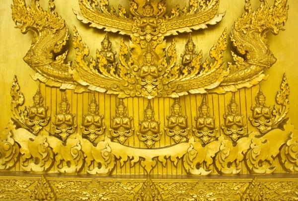 Fototapete Nr. 3936 - Golden Thai Wall