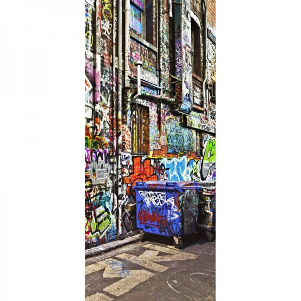 Türtapete Nr. 3489 - Graffiti Backstreet