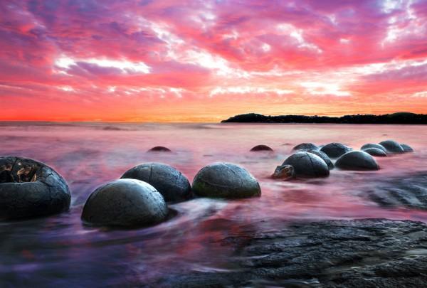 Fototapete Nr. 3284 - Moeraki Boulders, Neuseeland