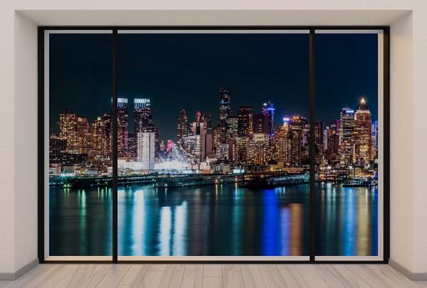 Fototapete Nr. 2982 - Penthouse N.Y.C. Midtown Skyline