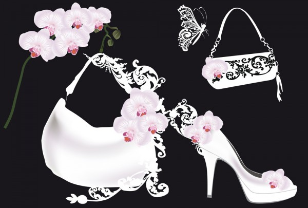 Fototapete Nr. 3634 - High Heels & Orchids