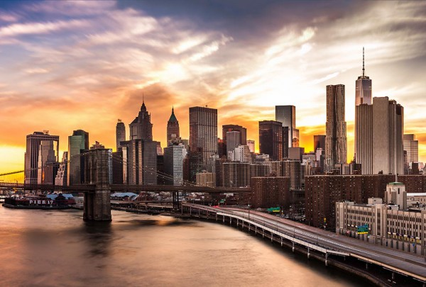 Fototapete Nr. 3104 - Manhattan Sunset
