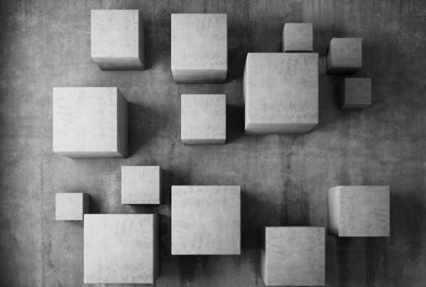 Fototapete Nr. 3500 - Beton - Struktur Cube