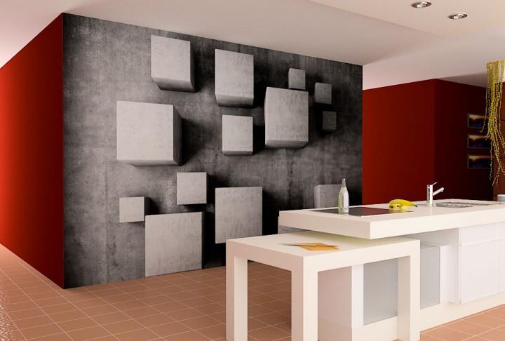 Fototapeten Eigenes Motiv : Cube Materials Fototapeten in Premiumqualit?t von supertapete.de
