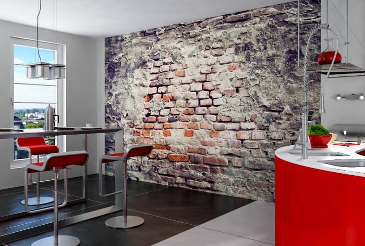 Fototapeten Eigenes Motiv : Mauerwerk Fototapeten in Premiumqualit?t von supertapete.de